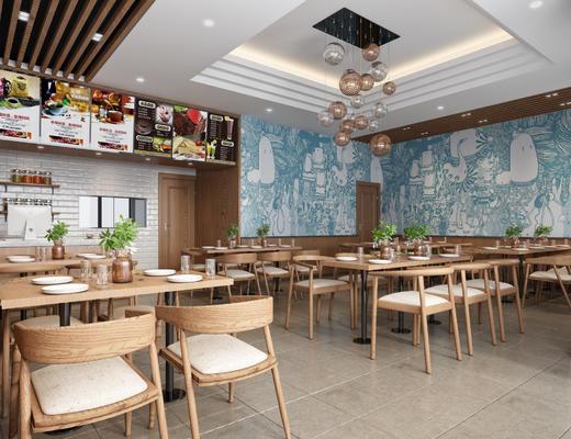餐饮, 餐馆, 饭店, 吃饭, 现代, 北欧, 小吃店
