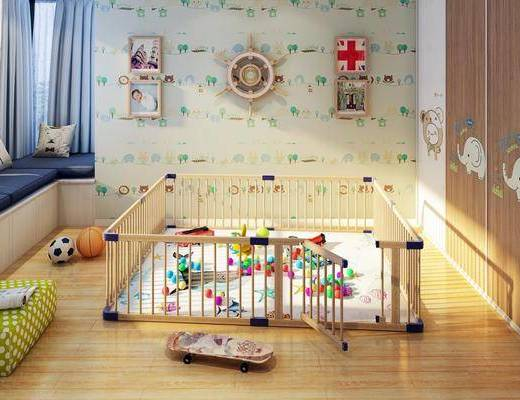 活动室, 玩具, 墙饰