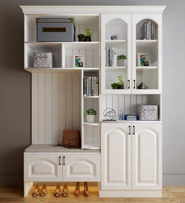 鞋柜, 装饰柜, 装饰品, 陈设品, 美式