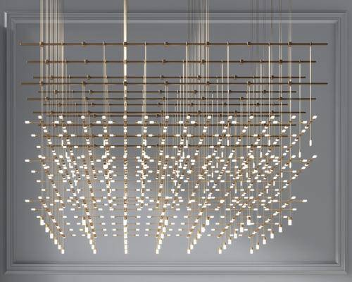 现代多头金属吊灯