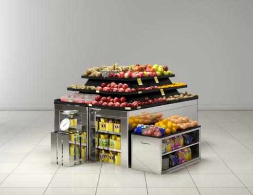 超市百货, 现代超市, 货架, 水果, 现代