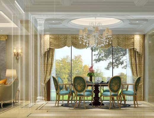 沙发组合, 餐厅, 客厅