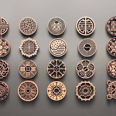 圆形花格, 镂花, 雕花, 新中式, 双十一