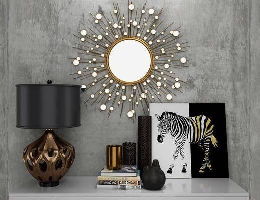 装饰品组合, 墙饰, 台灯, 摆件组合, 现代