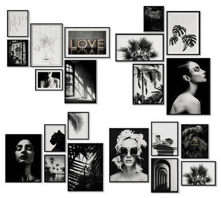 照片墙, 装饰画, 挂画, 组合画, 现代