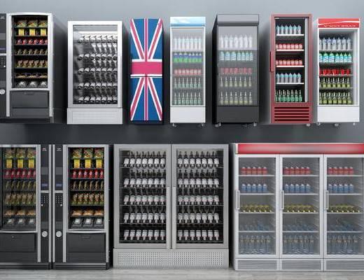 现代, 电器, 冰箱, 家电, 酒柜, 酒瓶