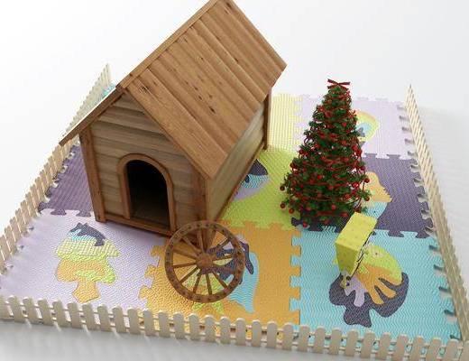 爬行垫, 小木屋, 玩具