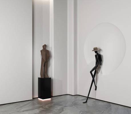 现代, 人物, 摆件, 雕塑