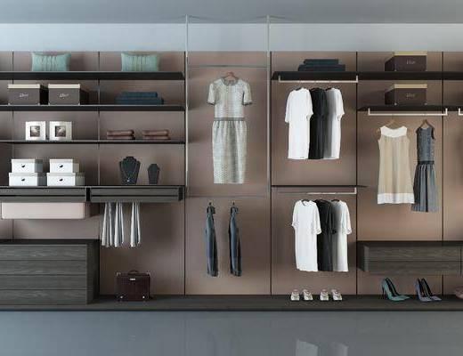 衣柜, 书柜, 装饰柜, 服饰, 现代