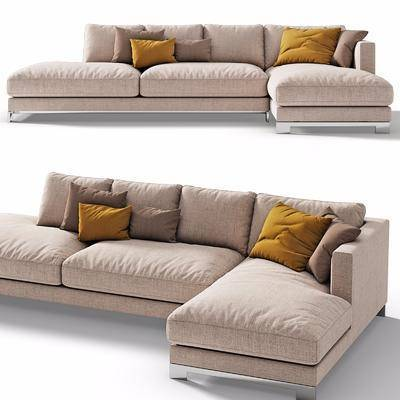 现代, 多人沙发, 转角沙发, 布艺沙发, 组合沙发