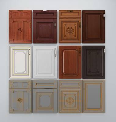 中式, 门板, 新中式, 柜门