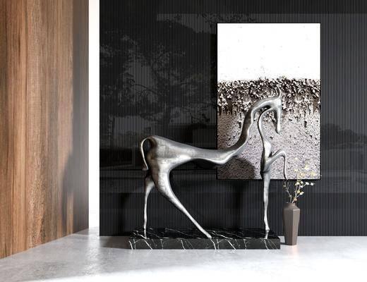 雕塑, 雕刻, 装饰品, 装饰画
