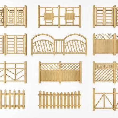 现代, 围栏, 护栏, 栏杆, 篱笆, 田园