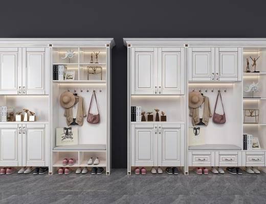 鞋柜, 装饰柜, 服饰, 摆件, 装饰品, 陈设品, 鞋子, 书籍, 简欧