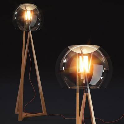 现代落地灯, 落地灯, 玻璃落地灯, 现代