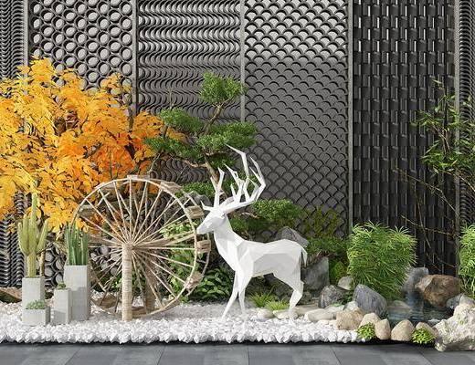 景观小品, 装饰品, 绿植