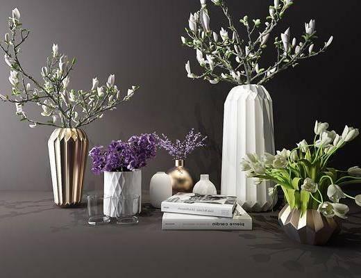摆件, 插花, 陈设花瓶, 植物, 花瓶