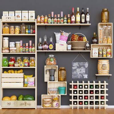 现代, 超市, 货柜, 组合