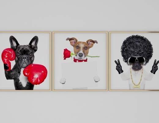 装饰画, 动物画, 组合画, 现代