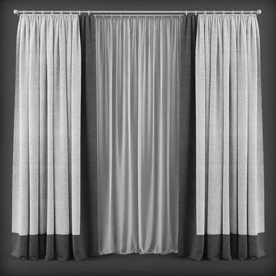窗帘, 窗纱, 窗户, 现代窗帘, 纯色窗帘, 简约窗帘, 现代