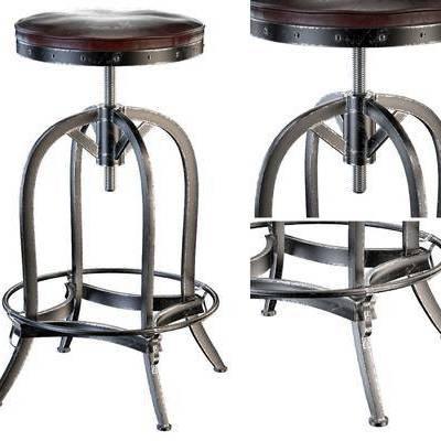 吧椅, 工业风, 皮革, 工业风吧椅, 皮革吧椅, 高脚凳, 现代