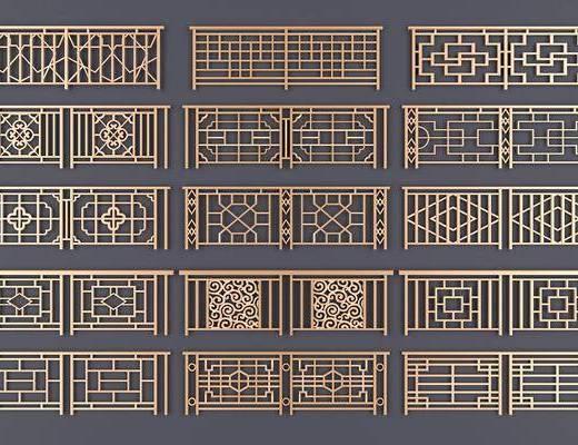 新中式护栏, 护栏, 金属护栏