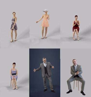 现代人物, 人物, 男人, 女人, 人