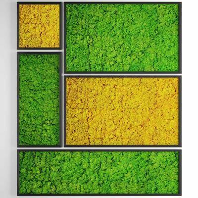 绿植, 植物, 背景墙, 植物墙, 现代