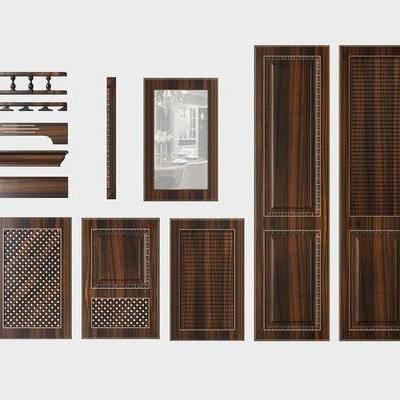 门板, 衣柜门板, 橱柜门板, 顶线, 腰线, 罗马柱
