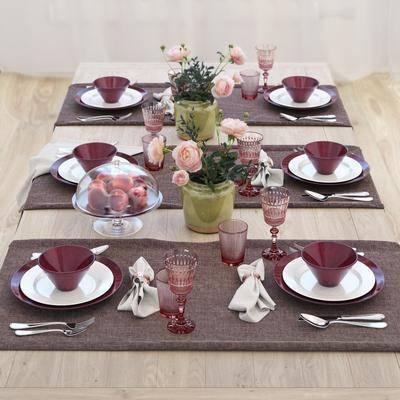 餐具, 花瓶花卉, 水果, 北欧