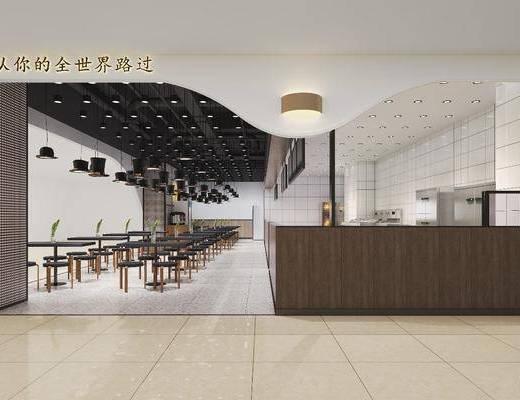 餐廳, 現代餐廳, 桌椅組合, 前臺