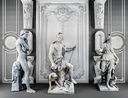 雕塑, 雕花, 石膏件