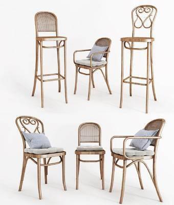 北欧, 椅子, 高脚凳