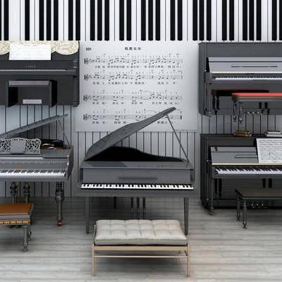乐器, 钢琴, 现代