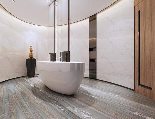 公共洗手间, 洗浴组合, 卫浴组合
