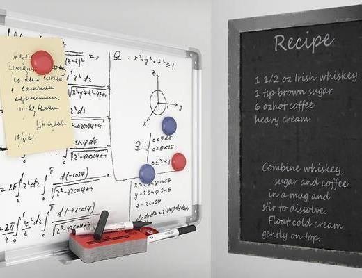 现代黑板, 现代白板, 办公用品
