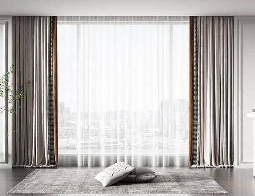 现代, 窗帘, 单体
