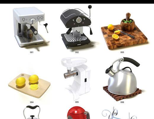 Evermotion, Archmodels, EV, 餐具, 食品, 家电