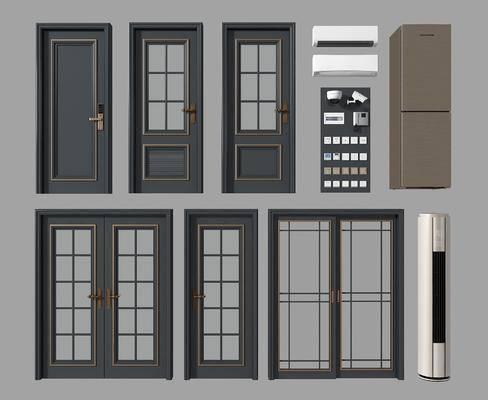 单开门, 双开门, 冰箱空调, 平开门, 现代