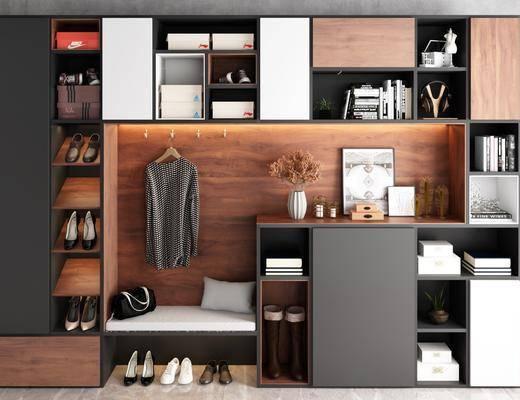 鞋柜, 柜架组合, 置物柜, 服饰, 衣架