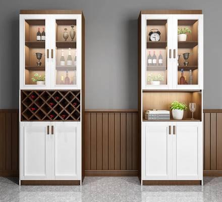 酒柜, 装饰柜, 红酒, 陈设品, 摆件, 柜