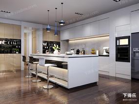 现代简约, 简约厨房, 吧台组合, 吧台