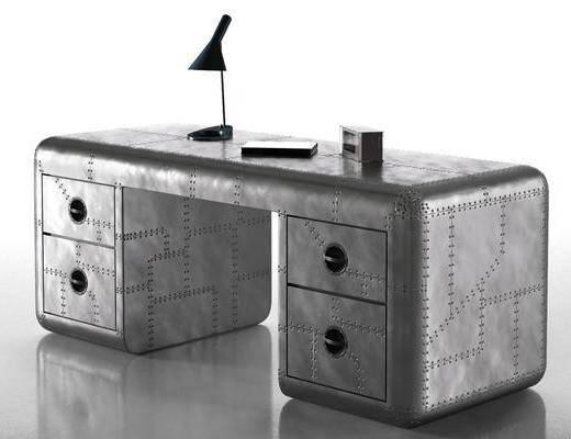 工業風辦公桌, 辦公桌, 現代臺燈