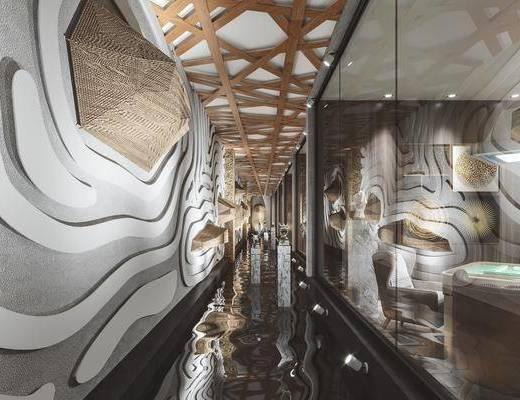 现代, 过道, 走廊