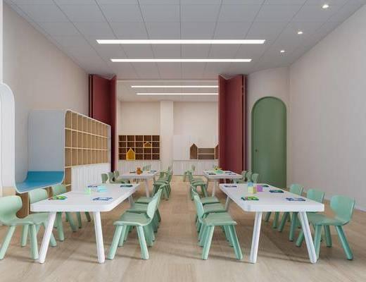 现代幼儿园, 儿童桌椅
