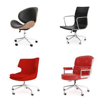 办公椅, 单人椅, 轮滑椅, 现代