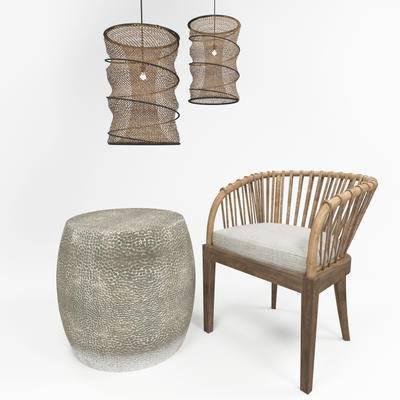 单椅, 吊灯, 休闲椅, 藤椅