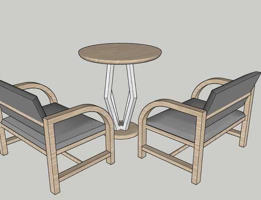 边几, 桌椅组合, 单椅