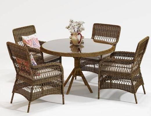 藤椅, 桌椅组合