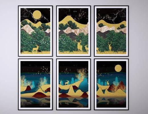 挂画, 装饰画, 挂画组合, 风景画